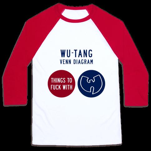 Wu Tang Venn Diagram Baseball Tee Lookhuman