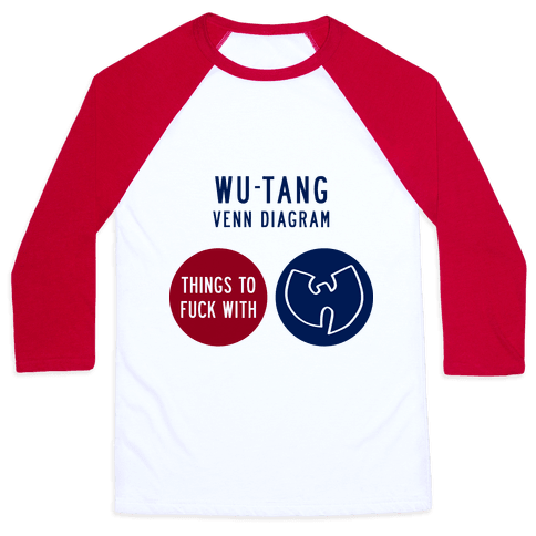 Wu-Tang Venn Diagram Baseball Tee