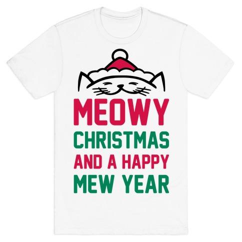 Meowy Christmas.Meowy Christmas T Shirt Lookhuman