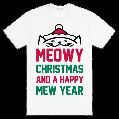 Meowy Christmas - TShirt - HUMAN