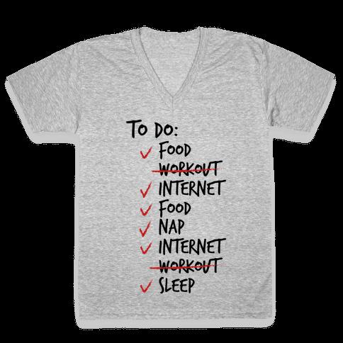 Life's Little Plans V-Neck Tee Shirt