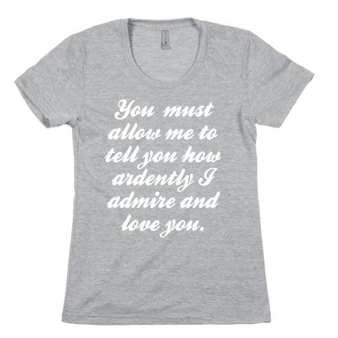 Mr. Darcy (White Ink) Womens T-Shirt