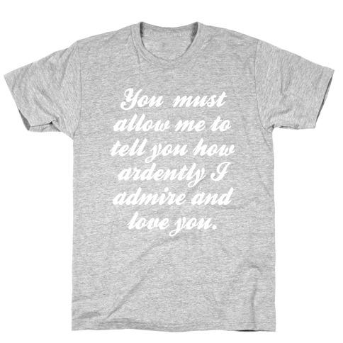 Mr. Darcy (White Ink) T-Shirt