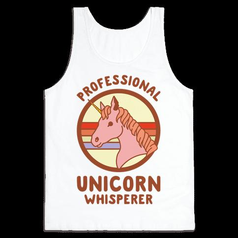 Professional Unicorn Whisperer Tank Top