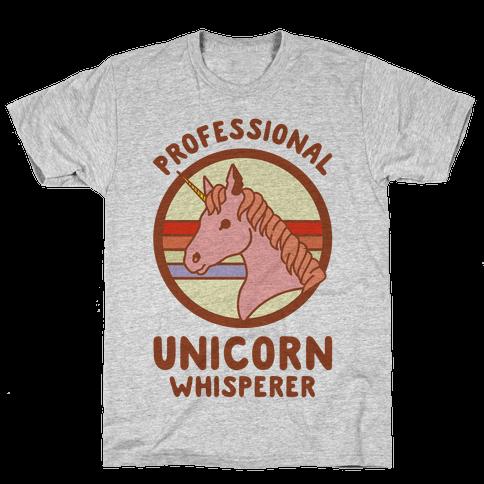Professional Unicorn Whisperer Mens T-Shirt