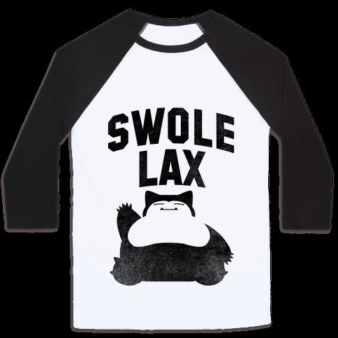 Swole Like Snorlax Baseball Tee