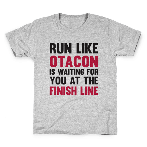 Run Like Otacon Is Waiting For You At The Finish Line Kids T-Shirt