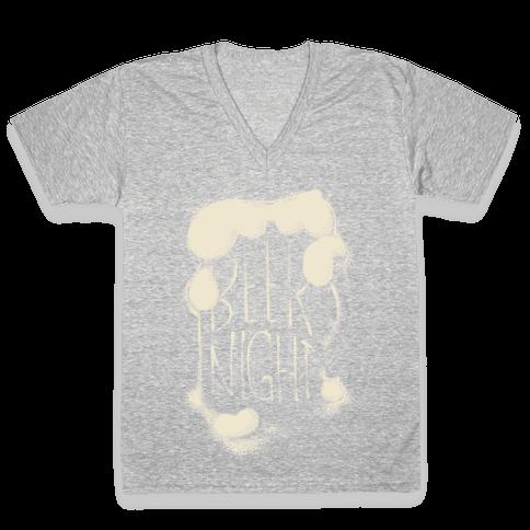 Beer Night V-Neck Tee Shirt