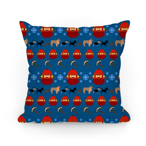 Yukon Cornelius Ugly Sweater Pillow