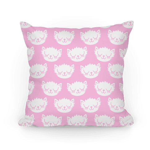 Pretty Pink Kitty Pattern Pillow