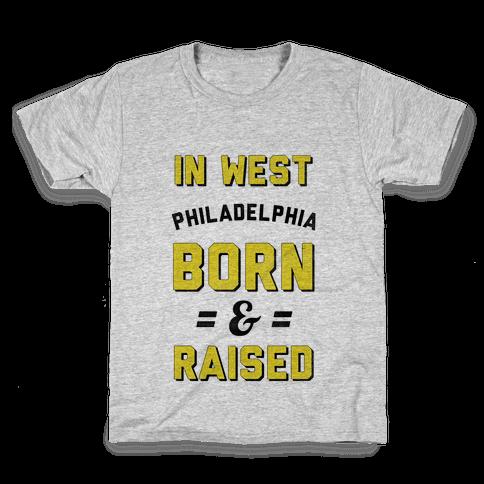 In West Philadelphia Born & Raised (taxi tank) Kids T-Shirt