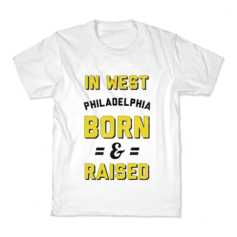 In West Philadelphia Born & Raised (taxi tank) Kids T-Shirt