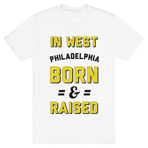 In West Philadelphia Born & Raised (taxi tank) Mens T-Shirt