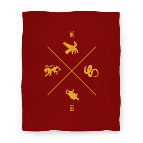 Hogwarts Crest Blanket (Gryffindor)