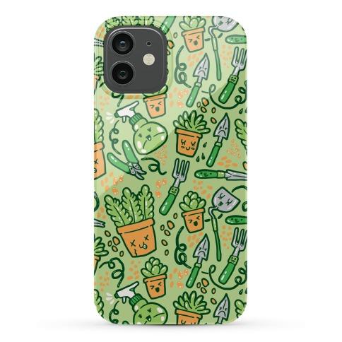 Kawaii Plants and Gardening Tools Phone Case