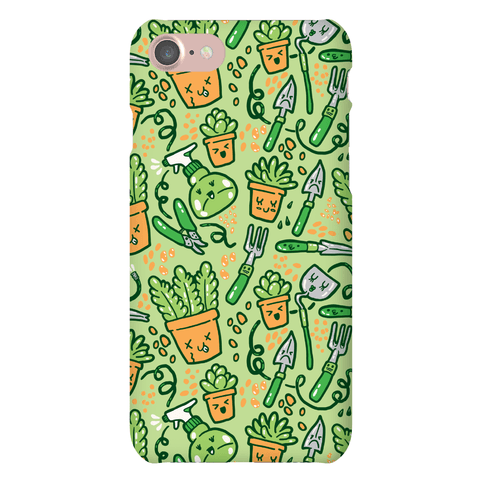 Kawaii Plants and Gardening Tools Phone Case
