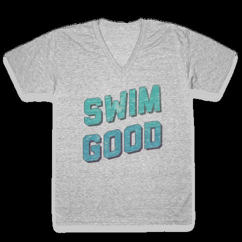 Swim Good V-Neck Tee Shirt