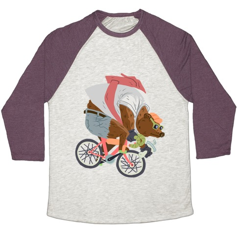 Fixed Gear Bear Baseball Tee