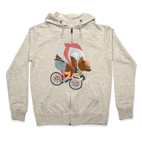 Fixed Gear Bear Zip Hoodie