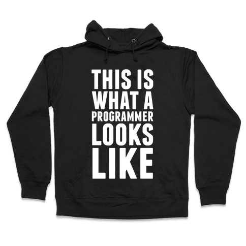 This Is What A Programmer Looks Like Hooded Sweatshirt