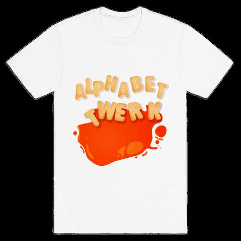 Alphabet Twerk Mens T-Shirt