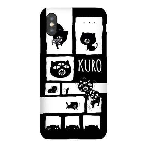 Kuro Cat Pattern Phone Case