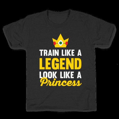 Train Like A Legend Look Like A Princess Kids T-Shirt