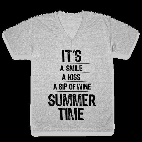Summertime V-Neck Tee Shirt