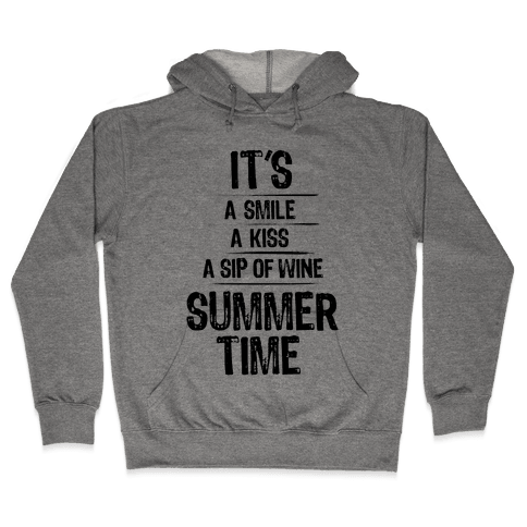 Summertime Hooded Sweatshirt