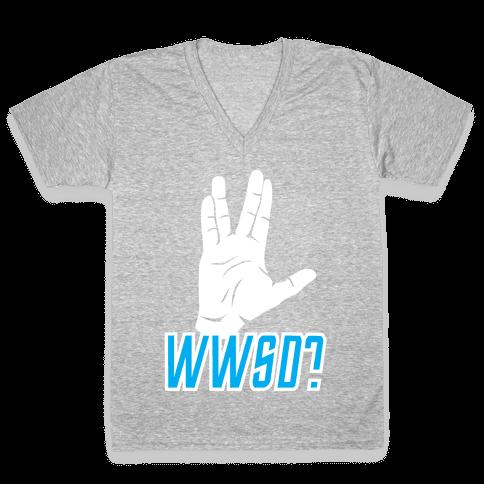WWSD? V-Neck Tee Shirt