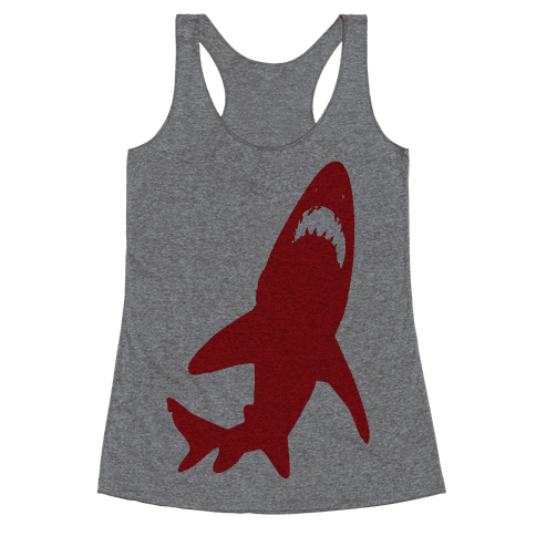 Stalking Shark Racerback Tank Top