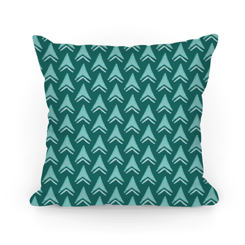 Teal Arrow Pattern Pillow