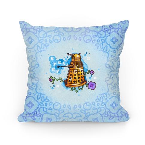 Watercolor Doctor Who Icon (Dalek) pillow Pillow