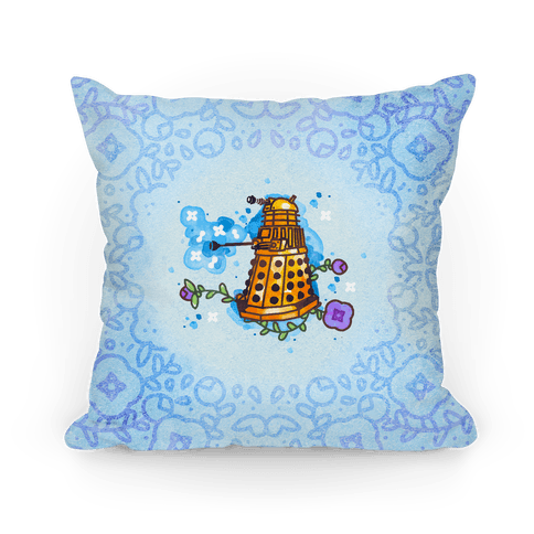 Watercolor Doctor Who Icon (Dalek) pillow