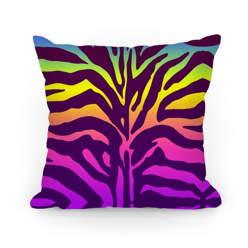 Rainbow Zebra Pillow