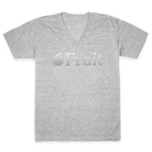 Fruit Computers V-Neck Tee Shirt