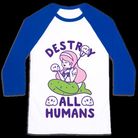 Destroy All Humans Baseball Tee