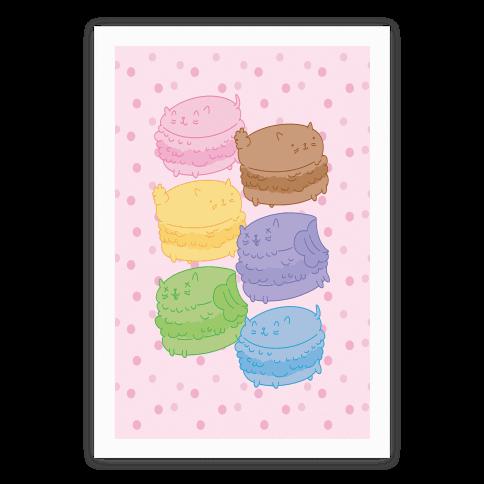 Cat Macarons Poster