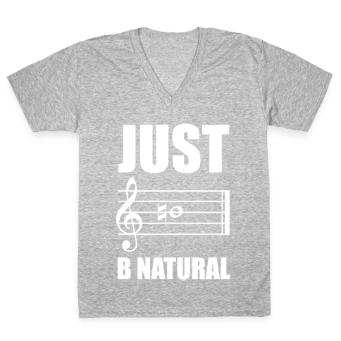 Just B Natural V-Neck Tee Shirt