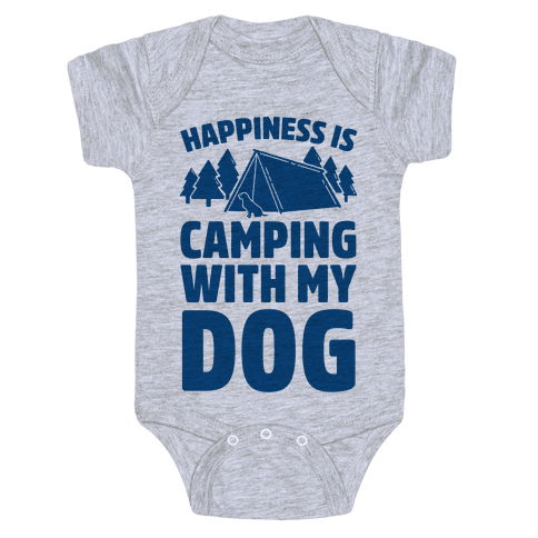 Happiness Is Camping With My Dog Baby Onesy
