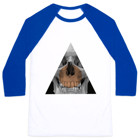 Skull Triangle Baseball Tee