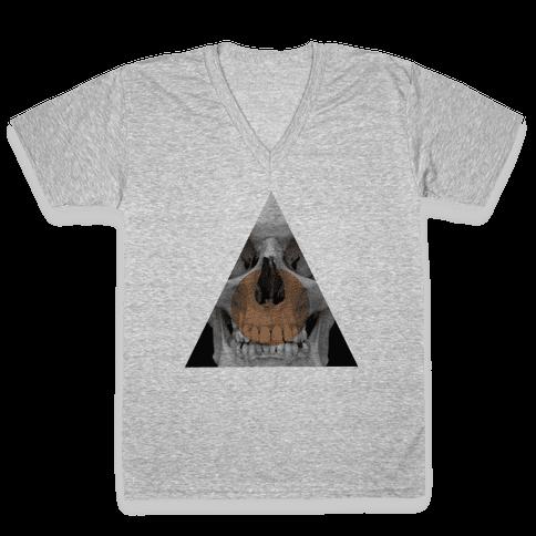 Skull Triangle V-Neck Tee Shirt