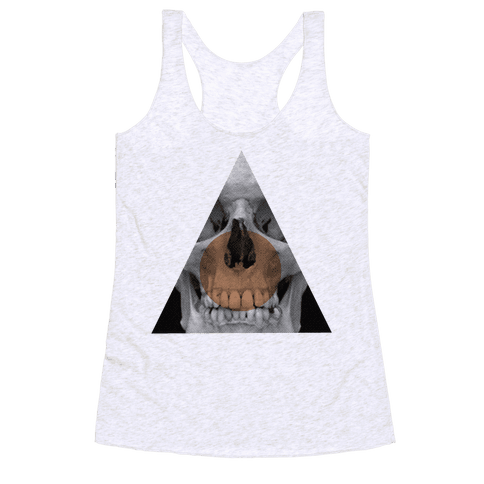 Skull Triangle Racerback Tank Top