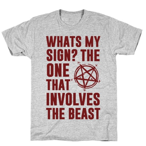 What's My Sign? The Beast Mens T-Shirt
