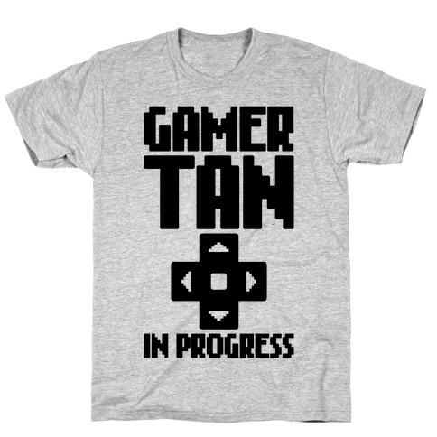 Gamer Tan In Progress Mens T-Shirt