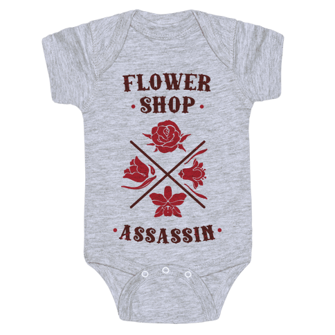 Flower Shop Assassin Baby Onesy