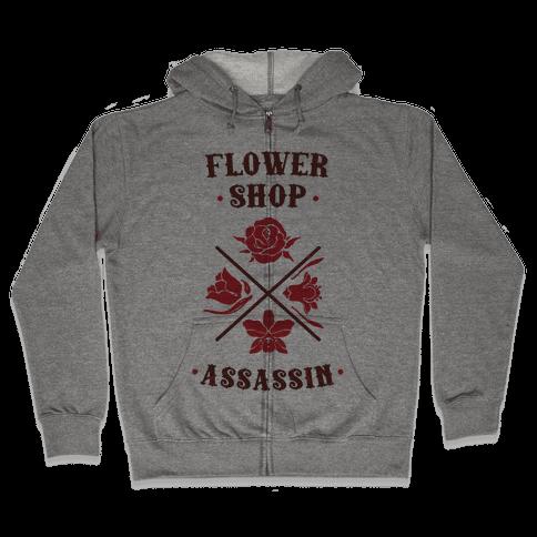 Flower Shop Assassin Zip Hoodie