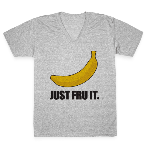Just Fru It V-Neck Tee Shirt