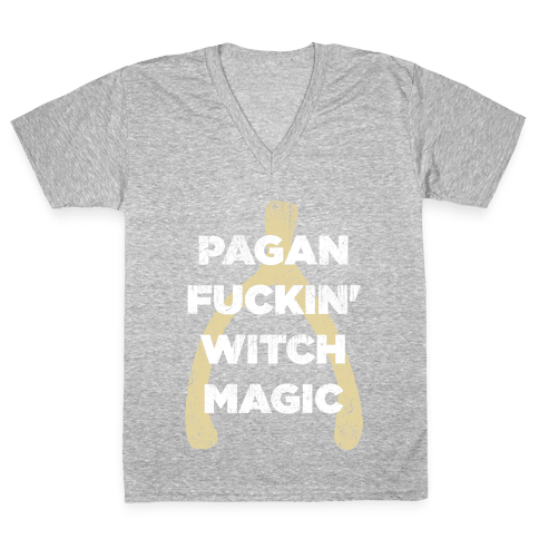 Wishbones are WITCH MAGIC V-Neck Tee Shirt