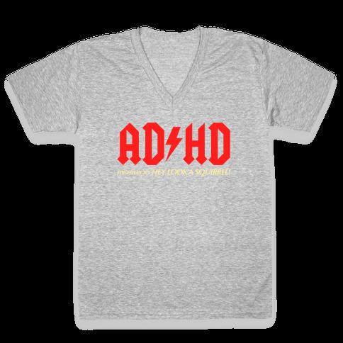 ADHD V-Neck Tee Shirt